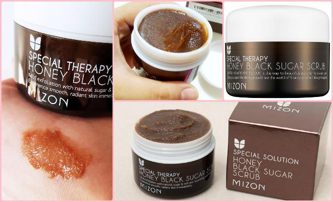 корейский скраб Mizon Honey Black Sugar Scrub